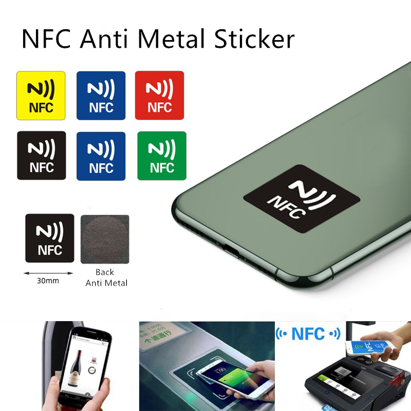 6Pcs NFC Tag Sticker 13.56MHz Waterproof PET Material NFC Stickers Smart Adhesive Anti Metal NFC 216 Tags For All NFC Phones
