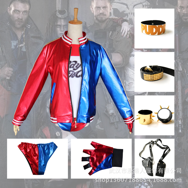 Suicide Squad COS Halle Kui Yin Cosplay Clothing Suicide Squad Small Ugly Girl COS Costume