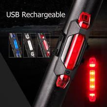 Портативный задний фонарь для велосипеда с зарядкой от usb предупреждающий