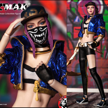 In Stock Collectible CAT TOYS 1/6 Scale Fashion Girl CT020 Female Girl Akali Action Figure   Full Set Action Figure Model for Fa 1 6 pl2016 85 female hunter huntress arhian full set action figure models collections