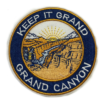 Outdoor Custom Embroidery patch iron on Grand Canyon Custom Embroidered Badge for promoting giveaway gift factory OEM service image