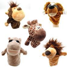Забавная и интерактивная игрушка, Мультяшные животные, обезьяна, собака, Лев, плюшевая ручная кукла, рождественский подарок для детей
