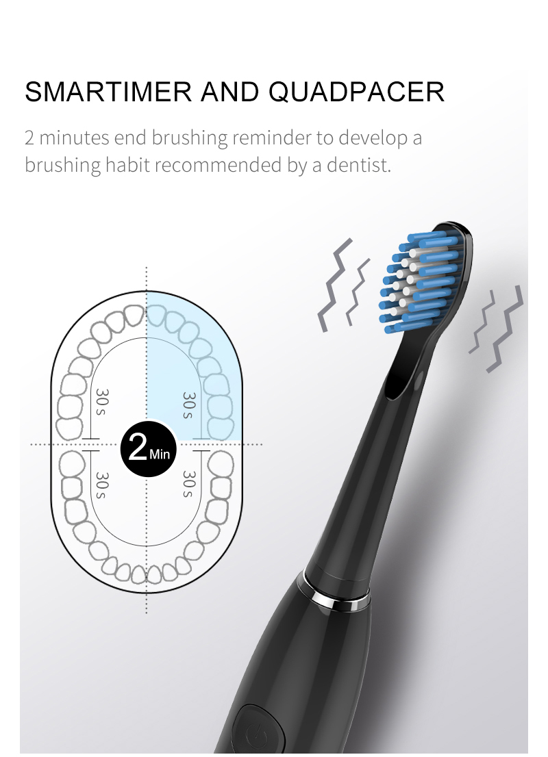 H3011db29289d4239ac4c1d01cb850580n - SEAGO Sonic Electric Toothbrush Upgraded Adult Waterproof USB Rechargeable 360 Days Long Standby Time With5 Brush Head Best Gift