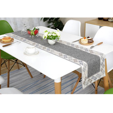 Nordic Cotton and Linen Table Runner Modern Geometric Pattern Table Cloth Runner European Table Runners for Wedding Decoration