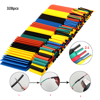 New Heat Shrinkable Tube Set 2:1 Wrap Wires Cable Insulated Polyolefin Shrink Ratio Tubing Insulation Tubes - discount item  61% OFF Electrical Equipment & Supplies