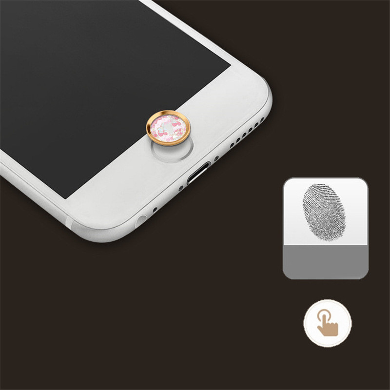 Fingerprint button stickers For iphone 5 SE 6 6s Easy to paste and recognize stickers High quality phone back button protection