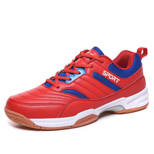 Men Sport Table Tennies Shoes Lace Up Male Sport Gym Sneakers Outdoor Red White Man Badminton Shoes Trainer Big Size