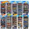 Original Hot Wheels Diecast 5pcs Sports Car Track Set 1:64 Metal Car Toy Hotwheels Mini Boy Toys for Children Model Car Oyuncak