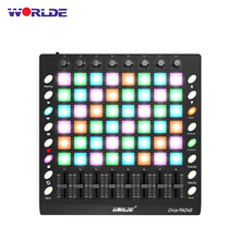 WORLDE PAD 3 Specifications New Shelves 48/64 MIDI Drum Pad Controller USB With Backlight Slider Electronic Musical Instruments