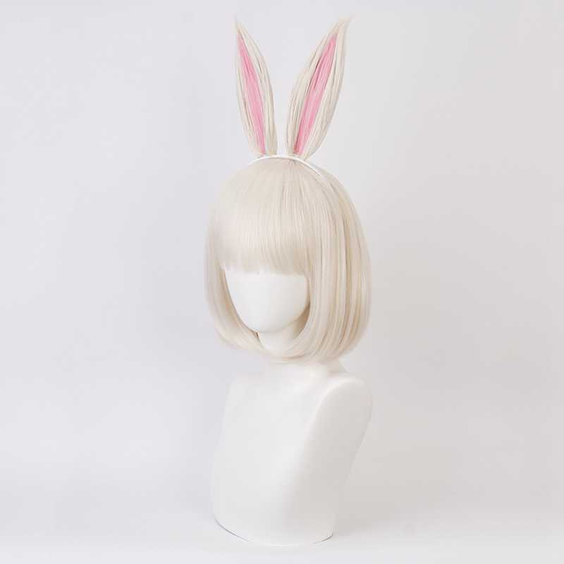 Pré-vente Uwowo Anime BEASTARS Cosplay Haru perruque avec oreilles de lapin animaux personnifiés mignon Cosplay perruque de cheveux Halloween Cosplay perruque