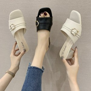 Clear Transparent Slippers Fem