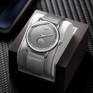 Image 3 - ONOLA Reloj sencillo de acero inoxidable para hombre, reloj de pulsera masculino, de cuero genuino, elegante, informal, resistente al agua, 2019