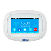 KERUI K52 Wifi GSM Alarm System Panel 4.3 Inch TFT Color Screen Wireless Security Alarm Suit Home Smart Residential Bular Host