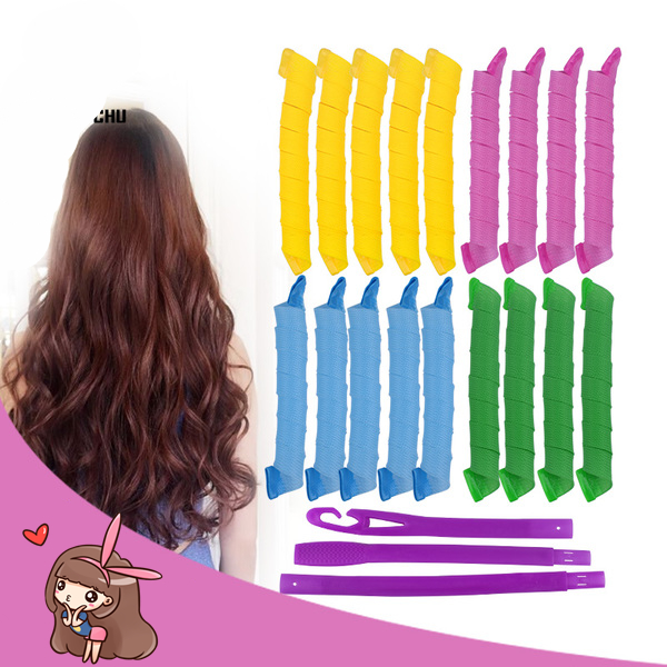 Magic Curlers DIY Tool For Girl Kids Pregnant Woman Handmade Beauty At Home Safe Short Long Curls Styling Wavy Hair Roll Fun Toy