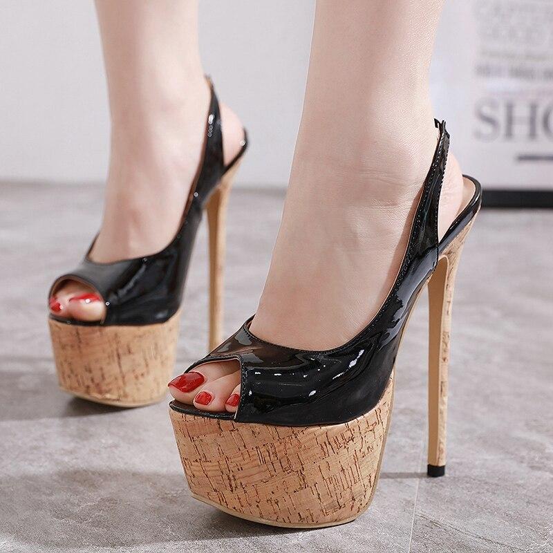 DiJiGirls, zapatos de tacón de 16 cm para mujer, zapatos de plataforma de tacón súper alto, zapatos de tacón Peep Toed, zapatos de oficina para mujer, tamaño Sexy 35-40 Pegatina de suela de zapato para mujer, para bota de tacón alto tipo sandalia, almohadilla autoadhesiva antideslizante, almohadilla para puntera frontal, almohadillas de zapato Protector