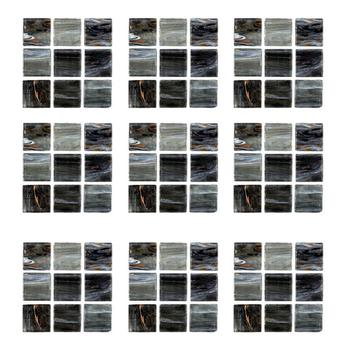 18 Uds azulejo de mosaico adhesivo arte estéreo Etiqueta de pared negra calcomanía de acabado mármol DIY decoración autoadhesiva impermeable papel pintado para la cocina