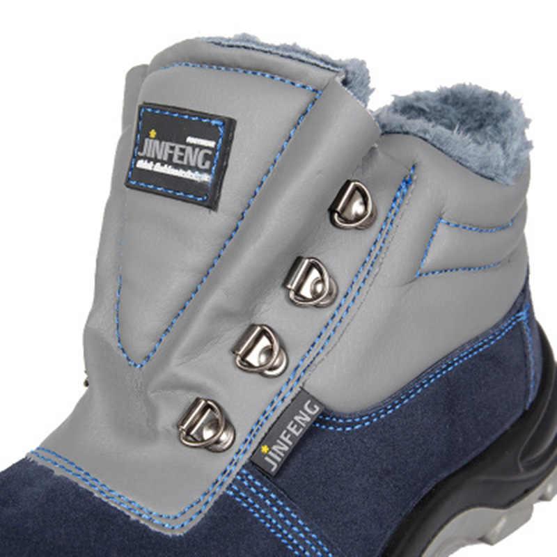 Veiligheidsschoenen Winter Labor Schoenen Hoge Katoen Werkschoenen Geïsoleerde 6KV Elektrische Schoenen Anti-Smashing Anti-Piercing schoenen