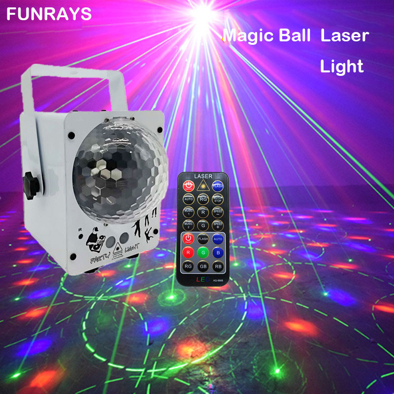 RGB Stage Light 60 Patterns Laser Projector For Home Bar Sound Activated Disco Ball Party Lighting Effect KTV Wedding