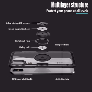 Image 5 - Luxury Bumper Case For Iphone X Silicone Case For Iphone XS XR XS Max 6 6S 7 8 Plus 11 Pro Max Armor Case With Magnetic Car Ring