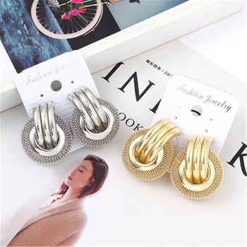 Fashion Earrings 2019 Round Geometric Drop Earrings For Women Circle Hanging Dangle Earring Modern Statement Jewelry Gift Brinco