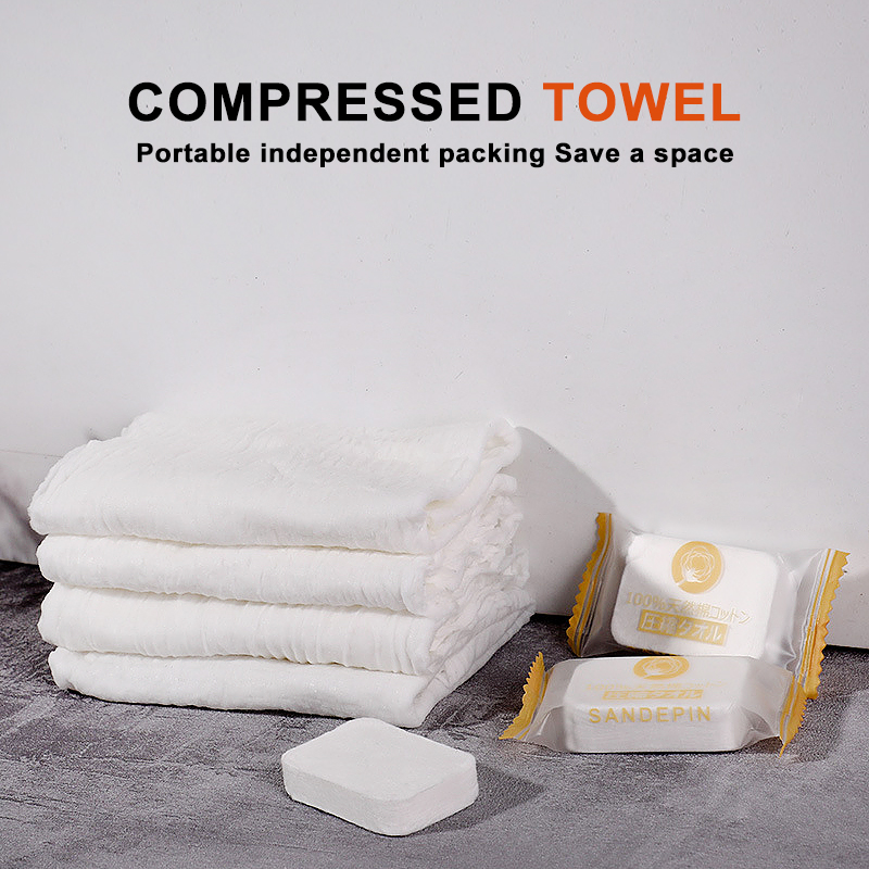 10Pcs Disposable Compressed Towels Portable Travel Face Washcloth Durable And Super Absorbent Beauty Skin Care Wet Cotton Wipes