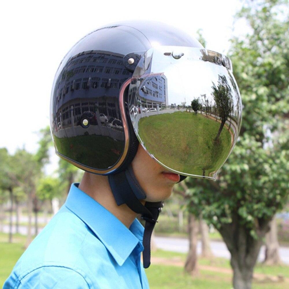 Motorrad Windschutzscheibe Helm Vintage Stil Helme 3 Snaps Jet Helm Stil Helm Blase Visier UV 400 Schutze