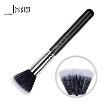 Jessup Single Makeup Brush Duo Fiber High Quality Professional Fiber Hair Wholesale Face Brush Pearlescent Black 1pc 187