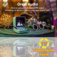 Divoom Ditoo Speaker Bluetooth Portable Mini Sound Box Alarm Clock Music Box LED Screen Night light Online Radio By APP Pixel Ar 1