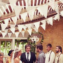 98 pulgadas Pastoral encaje bandera banderines casa boda cumpleaños fiesta decoración tres ángulo Banner evento arreglo Foto fondo
