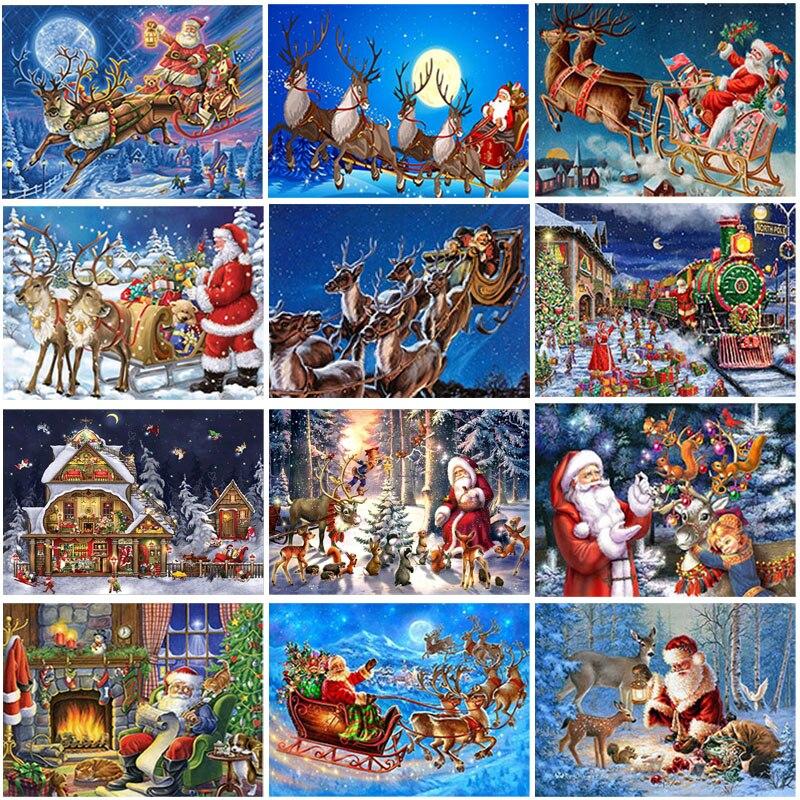 Алмазов картина Санта Клаус Алмазная мозаика картина Стразы Алмазная вышивка 5D Вышивка крестом алмазная живопись комплект