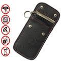 RFID дистанционный Автомобильный ключ кошелек PU кожаный брелок чехол Новый Брелок Сумочка сумка Анти Rfid Блокировка ключ протектор