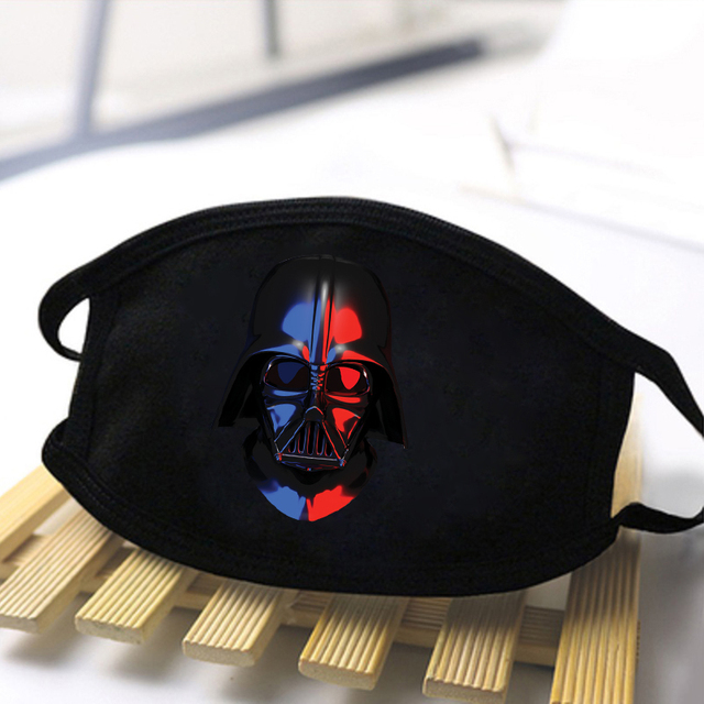 Star Wars Print Washable Dustproof masque Mouth-Muffle Fashion Mask Baby Yoda Mandalorian Men Women Black Casual Warm Kpop Masks 3