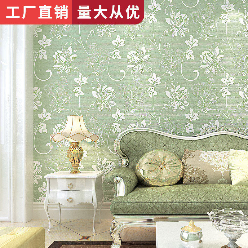Bedroom Living Room Television Background Wall Renderings Wallpaper European Style Thick Home Improvement Special Offer 3D Non-w