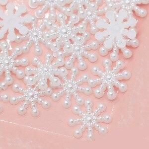 Image 2 - 100 יח\חבילה מיני לבן Snowflower DIY 3D Snowflower מדבקות רעיונות 2019 חג המולד 2020 חדש שנה בית קיר קישוט