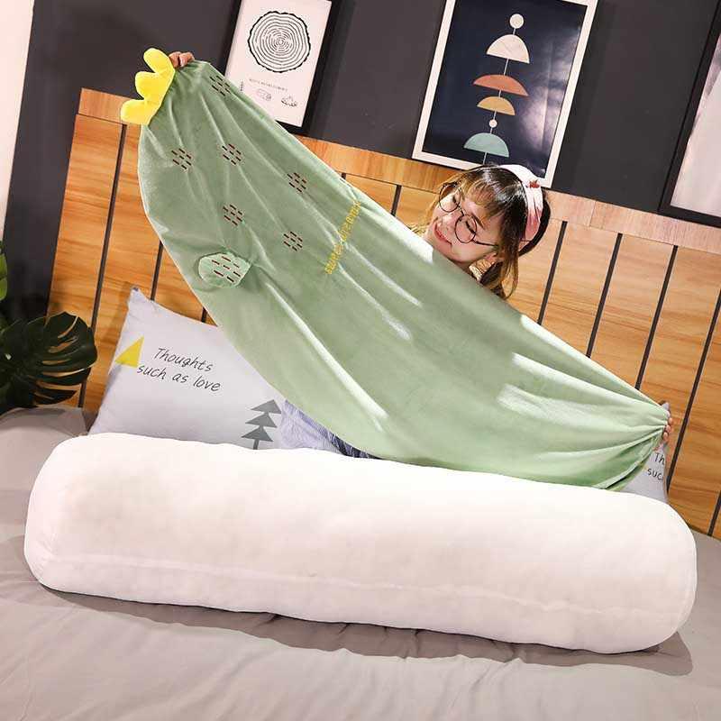 Home Beding وسادة طويلة النوم العميق الفاكهة تعزيز المخملية وسادة الرقبة القابلة للإزالة