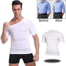 Camiseta adelgazante para hombre, postura correctiva, Control del vientre, compresión, modelador, corsé, ropa interior
