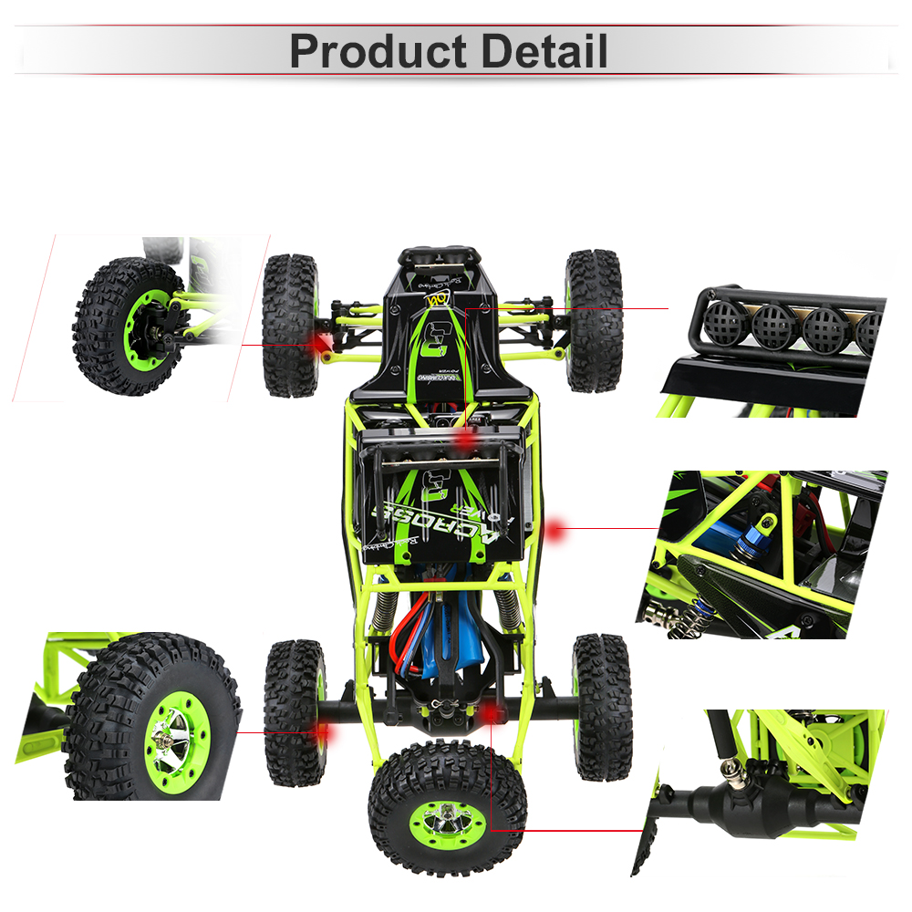 Image 2 - Wltoys 12428 50Km/h High Speed RC Car 1/12 Scale 2.4G 4WD RC Off road Crawler RTR Electric RC Climbing Car Toy for Kids-in RC Cars from Toys & Hobbies