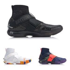 Image 2 - Li ning zapatos de bádminton profesionales para hombre, calzado deportivo ligero con forro de espuma, en la nube, AYAP015 JAS19, 4,0