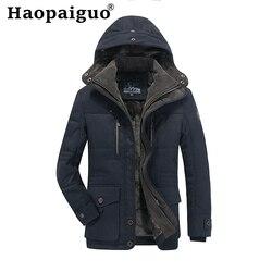 Толстая теплая куртка из хлопка размера плюс M-4XL для мужчин, 2019 осенние армейские куртки MA-1, мужские Брендовые куртки с капюшоном