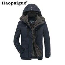 Plus Size M-4XL Cotton Thick Warm Jacket Men 2019 Autumn MA-1 Style Army