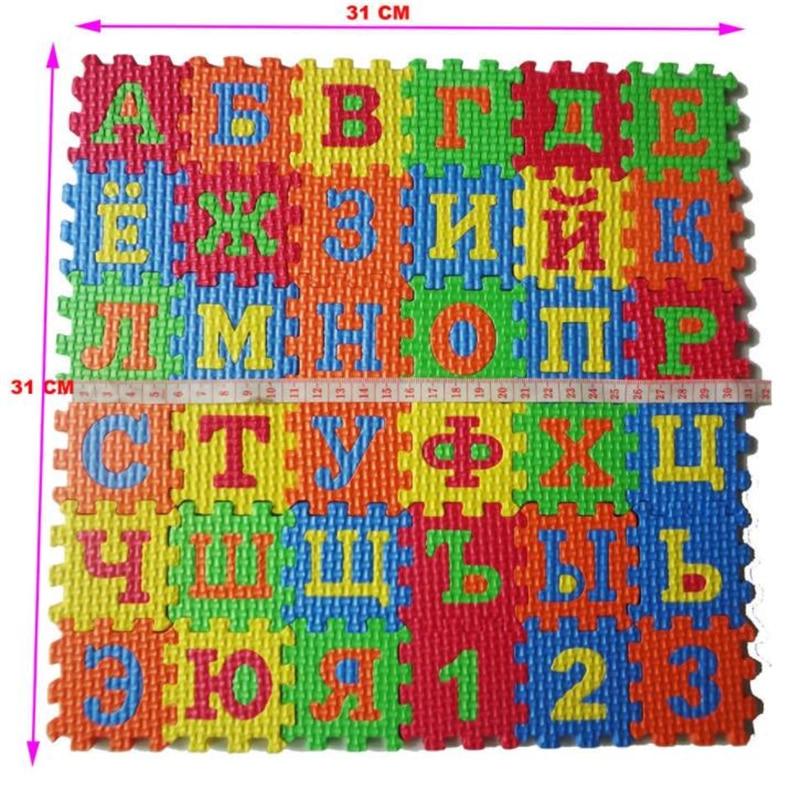 H3013a583af7d4eb4bcc3dbfabc0cbb538 36pcs Russian Alphabet Baby Toy Foam Puzzle Mat EVA Educational Play Mat Baby Crawling Mats Carpet  Early Teaching Floor Mats