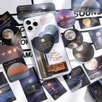 Pegatinas de álbum de recortes de Luna, decoración artesanal para maleta para portátil, álbum de cuadernos, 40 unids/lote