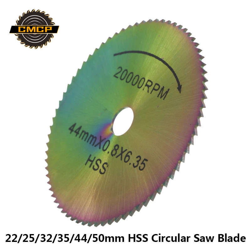 1pc 22/25/32/35/44/50mm Circular Saw Blade HSS Mini Colorful Saw Blade Wood Cutting Disc Rotary Tool Accessories Saw Disc