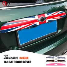 Car Outdoor Trunk Trim Lid Tailgate Door Handle Strip Protective Cover Sticker For mini cooper F55 F56 Car styling Accessories
