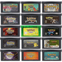 32 Bit video oyunu kartuşu konsolu kart Nintendo GBA Pokeon SeLiquid ries kristal Top gizli ikinci baskı
