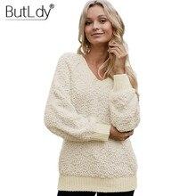 V-neck Long White Sweatshirt Women Solid Sleeve Hoodies Autumn Winter New Style 2019 Warm Slim Sweatshirts