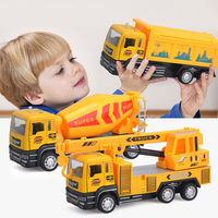 1:32 New Alloy Engineering Vehicles Engineering Crane Dump Truck Concrete Carrier Vehicle Simulation Boy Kids Favorite Toy Gift