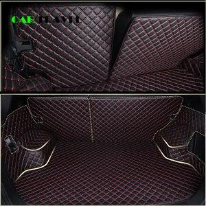 Image 5 - Custom leather Car Trunk Mats For mitsubishi pajero sport outlander x grandis ASX Lancer Galant 2018 Car Cargo Rear Boot Liner