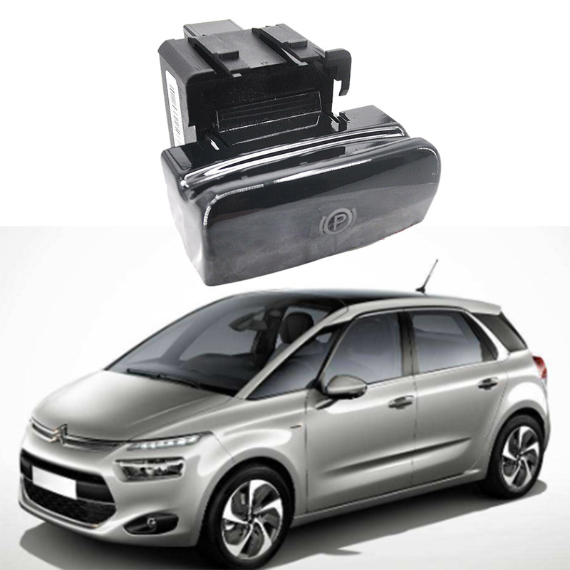 Para Peugeot Citroen C4 Picasso DS4 C4 freno de estacionamiento freno de mano electrónico interruptor de freno de mano 470702 Alarma de coche de 12V, botón de arranque único, botón de arranque de motor, bloqueo RFID, interruptor de encendido, sistema antirrobo de entrada sin llave