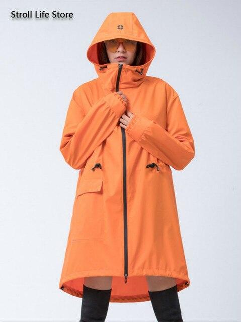 Adult Long Raincoat Rain Jacket Waterproof Outdoor Hiking Blue Rain Poncho Women Jacket Windbreaker Manteau Femme Gift Ideas
